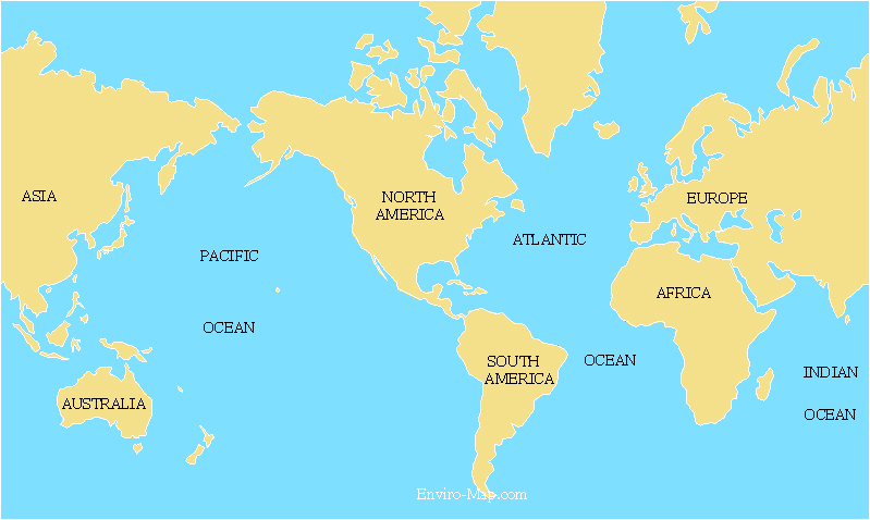 Continents And Oceans Names images